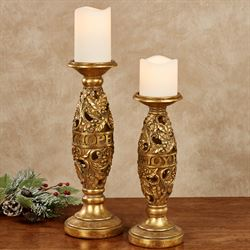 Love Joy Hope Gold Candleholders Set of Two