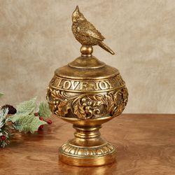 Love Joy Hope Gold Covered Jar
