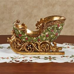 Winterberry Sleigh Tabletop Accent Red