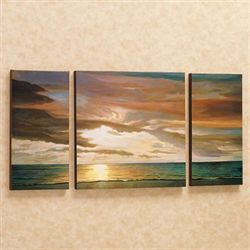 Quiet Horizons Canvas Triptych