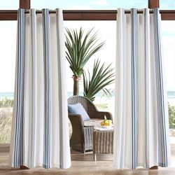 Grand View Stripe Grommet Curtain Panel