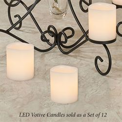 Zoe LED Flameless Votive Candles Ivory Set of Twelve