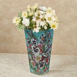 Hummingbirds Alight Table Vase Multi Jewel
