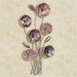 Charming Floral Array Wall Art Purple