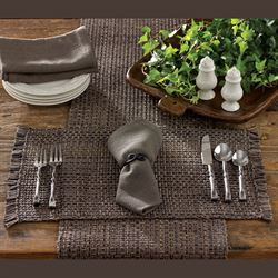 Tweed Basics Table Runner Charcoal 13 x 54