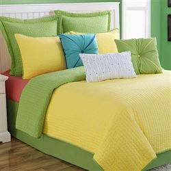 Dash Yellow Lime Coverlet Set