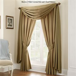 Heiress Wide Tailored Curtain Pair Almond 100 x 84
