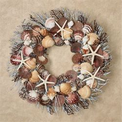 Bali Chic Seashell Wreath Multi Pastel