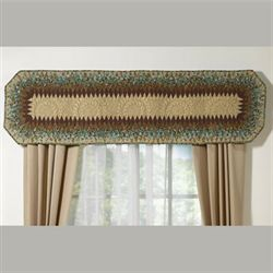 Sea Breeze Quilted Valance Multi Warm 56 x 15