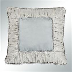 Couture II Piped Pillow Pale Blue 19 Square