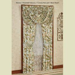 Adeline Tailored Curtain Pair Aqua Mist 82 x 84