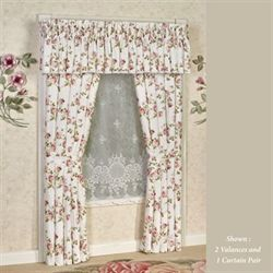 Rosalie Wide Tailored Curtain Pair Eggshell 100 x 84
