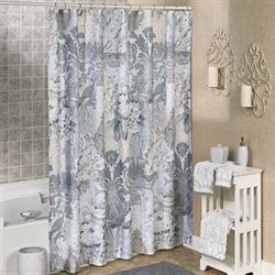 Heirloom Shower Curtain Gray 72 x 72