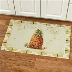 Bless This Kitchen Pineapple Comfort Mat Pale Green 30 x 18