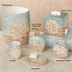 Mosaic Shell Lotion Soap Dispenser Aqua Mist