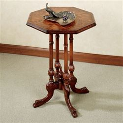 Ulani Octagonal Accent Table Natural Cherry