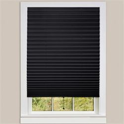 Judson Pleated Window Shade Black