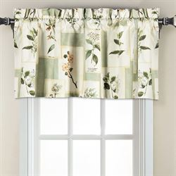Floralescent Tailored Curtain Panel Green