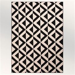Zerach Rectangle Rug Black