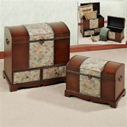 Baltistan Trunk Set Rich Walnut Set of Two