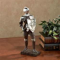 Nobility and Loyalty Knight Sculpture Brown