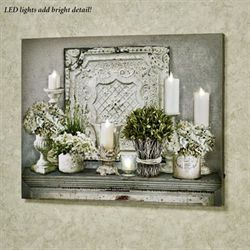 Candlelit LED Canvas Wall Art Multi Cool