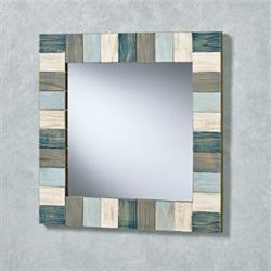 Weathered Coastal Wall Mirror Multi Cool