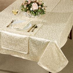 Opal Innocence Oblong Tablecloth