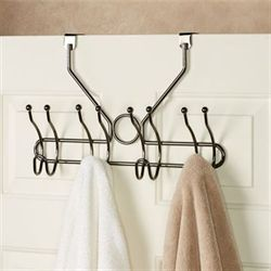 Over the Door Hook Rack Black Chrome