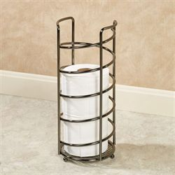 Spiral Wire Toilet Paper Holder Black Chrome