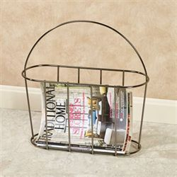 Contempo Magazine Rack Black Chrome