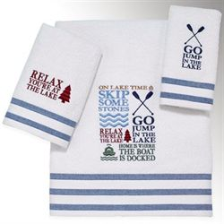 Lake Words Bath Towel Set Ivory Bath Hand Fingertip