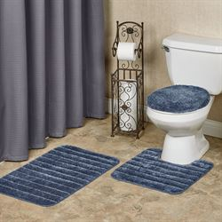 Veranda Toilet Lid Cover and Bath Rugs Set of Three
