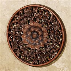 Floral Medallion III Wall Plaque