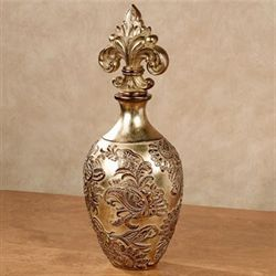 Ornatia Covered Jar with Finial Gold