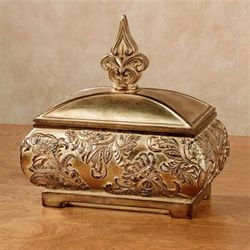 Ornatia Decorative Covered Box Gold