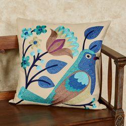 Larksburg Decorative Accent Pillow Blue 20 Square
