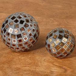 Zayn Decorative Orbs Bronze Set of Two