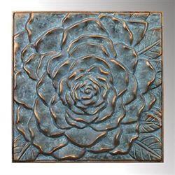 Blooming Rose Wall Art Gold Verdi