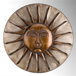 Sun Face Wall Art Bronze