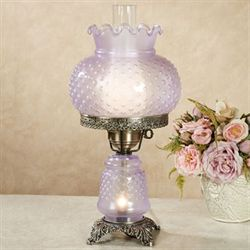 Mindy Hobnail Table Lamp Lavender