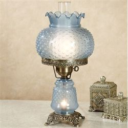 Mindy Hobnail Table Lamp Powder Blue