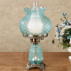 Mindy Hobnail Table Lamp Teal
