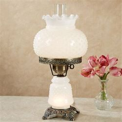 Mindy Hobnail Table Lamp White