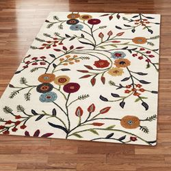 Autumn Arise Rectangle Rug Light Cream
