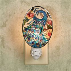 The Eyes Have It Peacock Nightlight Multi Jewel