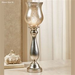 Sachin Uplight Table Lamp Champagne Silver