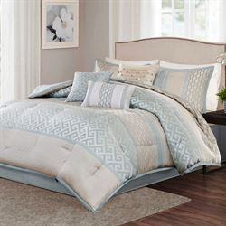 Montage Comforter Bed Set Pale Aqua