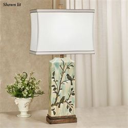 Bembe Birds Table Lamp Aqua