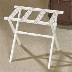 Chaya Chevron Luggage Rack Ivory